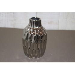 Vase, Höhe 11cm, silberfarbig