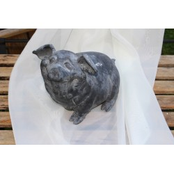 Schwein sitzend, Höhe 19cm