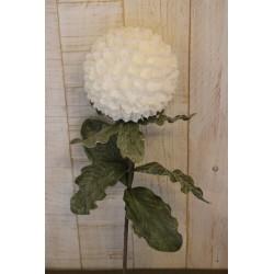 Kunstblume, weiß, runder...