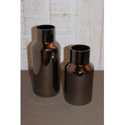 Vase schwarz glänzend, 2...